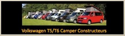 VW T5:T6 Camper Constructeurs